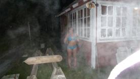 In costume con 5°C dopo la sauna a 45°C