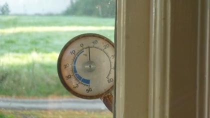 La temperatura alle 8 di mattina di qualche giorno fa