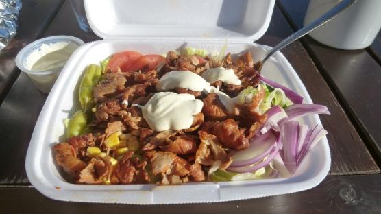 La mia buonissima kebab salad!