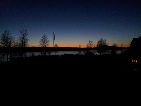 Foto scattata al ritorno da Karlstad venerdì 4 aprile, 20.56