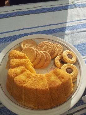 Sockerkaka, smörkakor, e biscotti al cioccolato