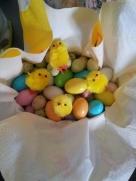L'uovo con i cioccolatini per la mia famiglia ospitante