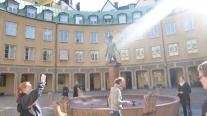 Piazza dove gli aristocratici facevano la sauna
