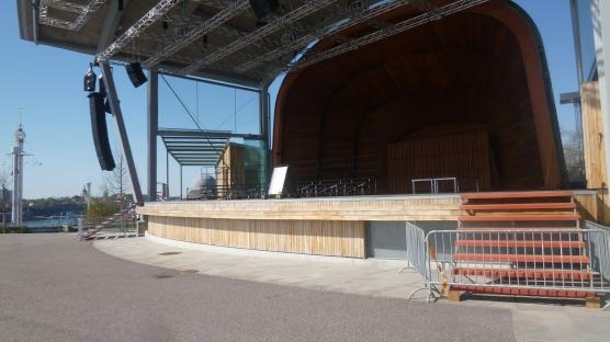 """Il palco dove ogni estate è in scena """"Allsång på Skansen"""""""
