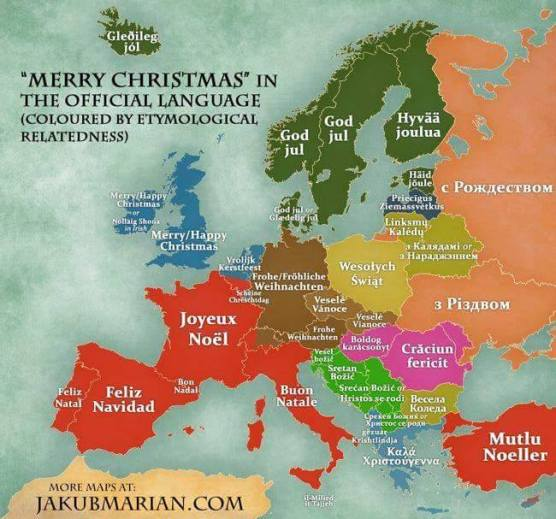 merry christmas in the official languages