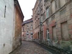 One of the narrow streets outside the walls