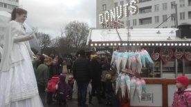 Christmas market at Gustav Adolfs Torg, Malmö. First advent weekend 26th November