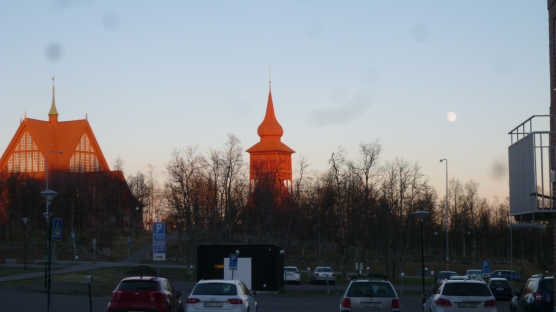 Kiruna church, around 23.30