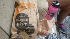 No words for the paper bags bagels are delivered in